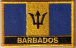 Barbados Embroidered Flag Patch, style 09.